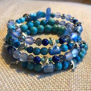 Jewelry - 🐬Dolphin gemstone bracelet